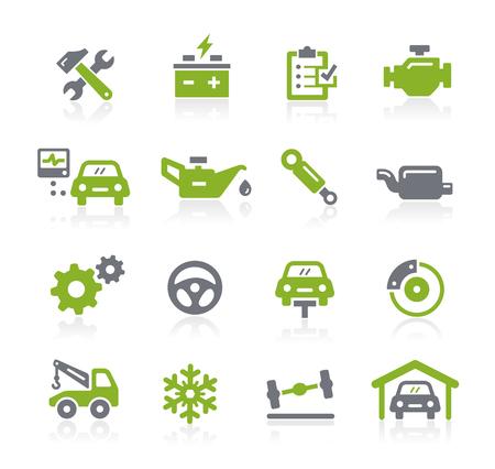 garage automobile: Icônes de services automobiles - Natura Series