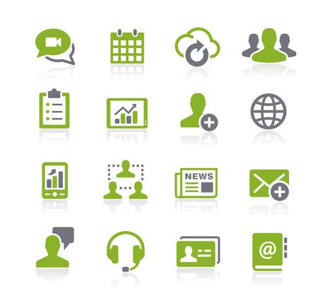 通信: ビジネス ネットワークのアイコン - ナチュラ シリーズ  イラスト・ベクター素材