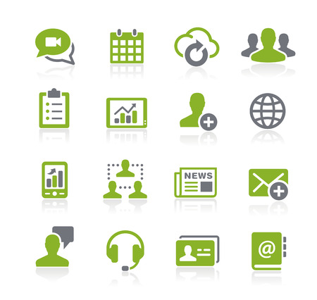communication icons: Business Network Icons -- Natura Series