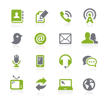 communicatie: Communicatie Icons - Natura Series Stock Illustratie