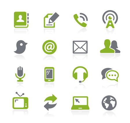 correspondencia: Iconos Comunicaciones - Serie Natura
