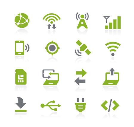 conectividad: Iconos Conectividad - Serie Natura