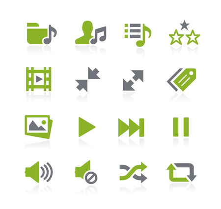 media player: Media Player Icons -- Natura Series