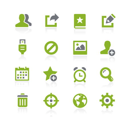 schedule system: Communication Interface Icons -- Natura Series
