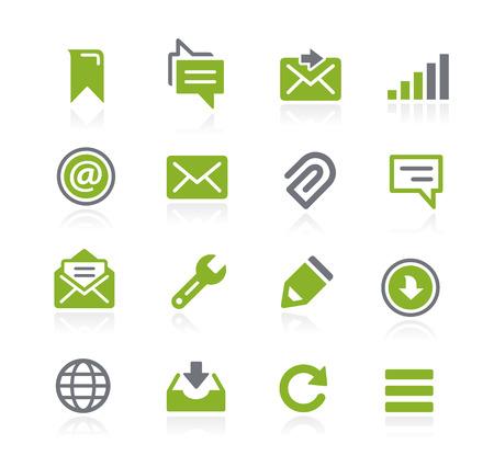Messages Icons -- Natura Series Stock Illustratie