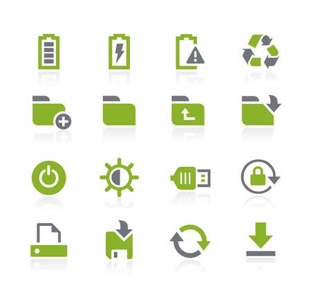 natura: Energy and Storage Icons -- Natura Series