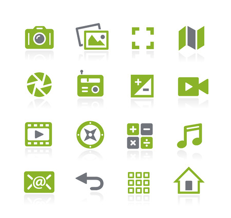 natura: Media Interface Icons -- Natura Series Illustration