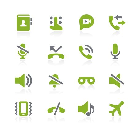 voicemail: Phone Calls Interface Icons -- Natura Series