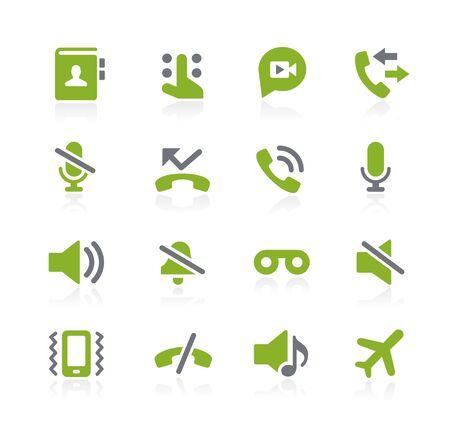 Phone Calls Interface Icons -- Natura Series