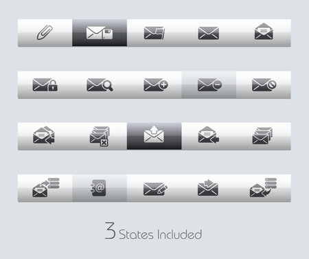 junk mail: email file includes 3 buttons states in different layers.