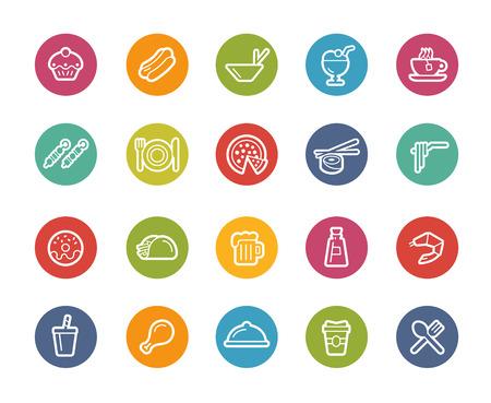Food Icons - Set 2 of 2 -- Printemps Series Stock Illustratie
