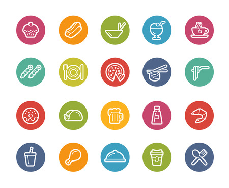 take out food: Food Icons - Set 2 of 2 -- Printemps Series Illustration