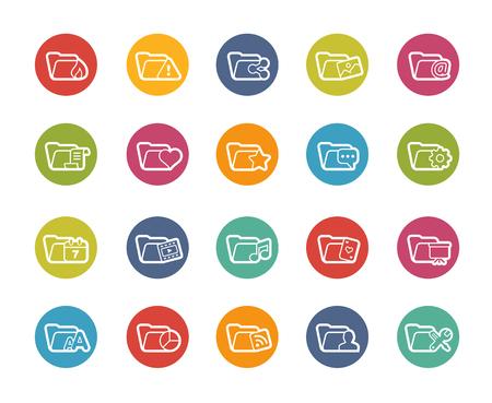 folder icons: Folder Icons - 2 of 2 -- Printemps Series Illustration