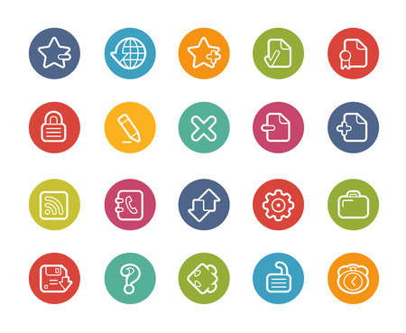 circle icon: Web Icons -- Printemps Series