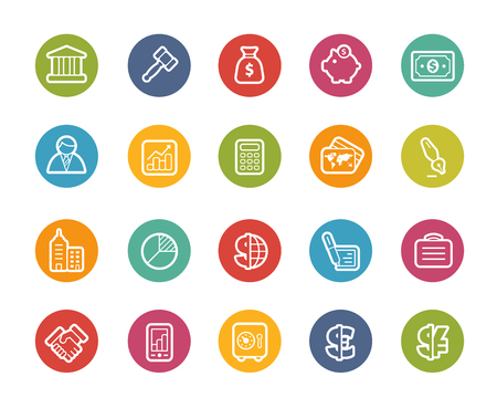 Business and Finance Icons -- Printemps Series