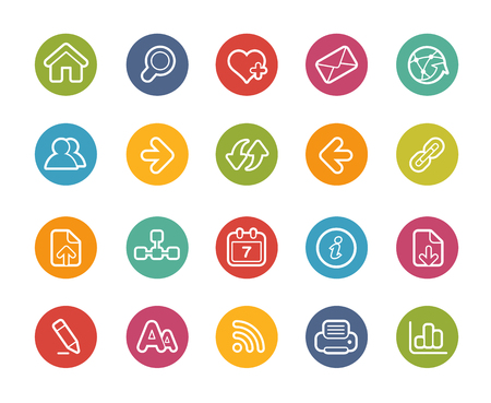 Web Navigation Icons-- Printemps Series