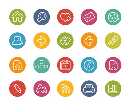 refrescarse: Web Navegación Icons-- Printemps Series Vectores