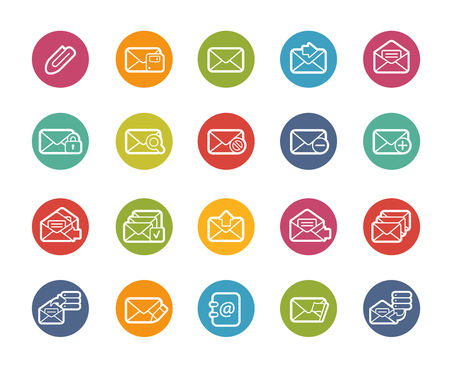 email icons: E-mail Icons -- Printemps Series