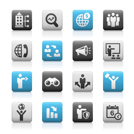 matte: Business Opportunities Icons -- Matte Series Illustration