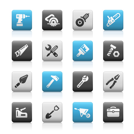 matte: Tools Icons - Matte Series Illustration