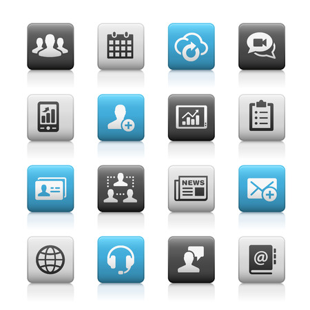 Business Technology Icons - Matte Series