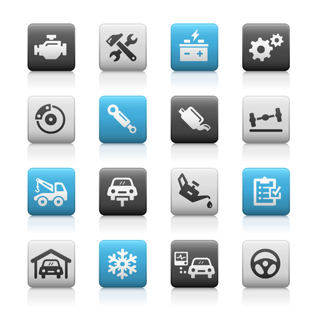 matte: Car Service Icons - Matte Series