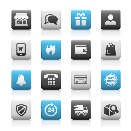 matte: E-Shopping Icons -- Matte Series