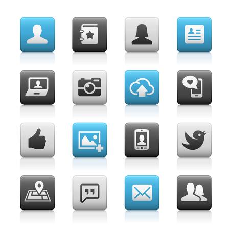 thumb up: Social Icons - Matte Series