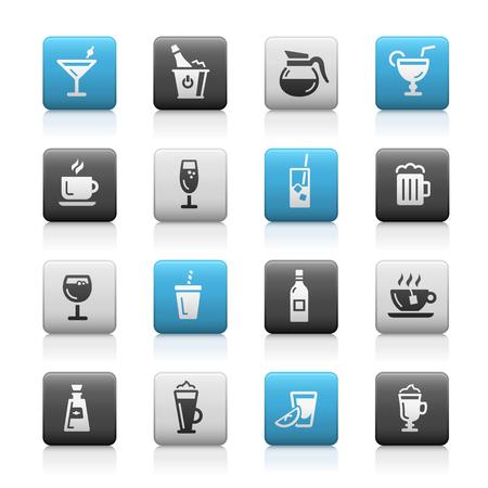 series: Drinks Icons - Matte Series Illustration