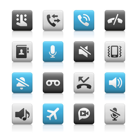 voice mail: Web and Mobile Icons 1 - Matte Series Illustration