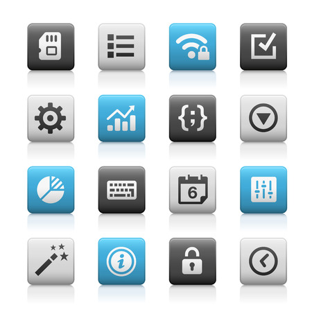 configure: Web and Mobile Icons 4 - Matte Series Illustration