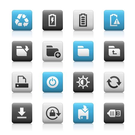 smartphone apps: Web and Mobile Icons 3 - Matte Series Illustration
