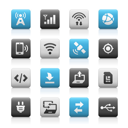 netbooks: Web and Mobile Icons 6 - Matte Series Illustration