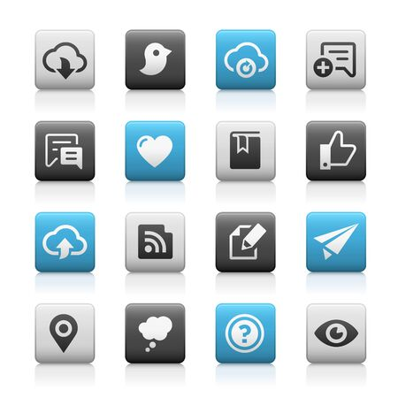web icons: Web and Mobile Icons 8 - Matte Series Illustration