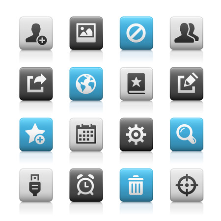 icons vector: Web and Mobile Icons 2 - Matte Series Illustration