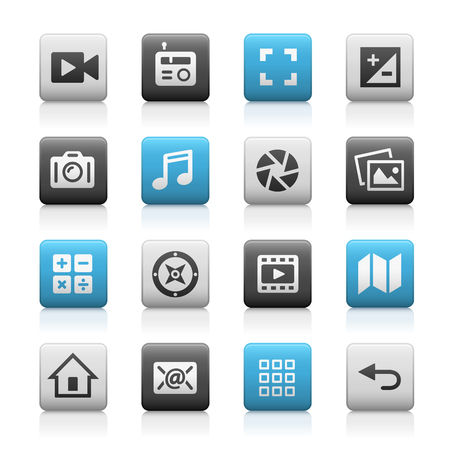 web icons: Web and Mobile Icons 5 - Matte Series Illustration
