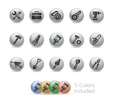 Tools Icons -- Metal Round Series