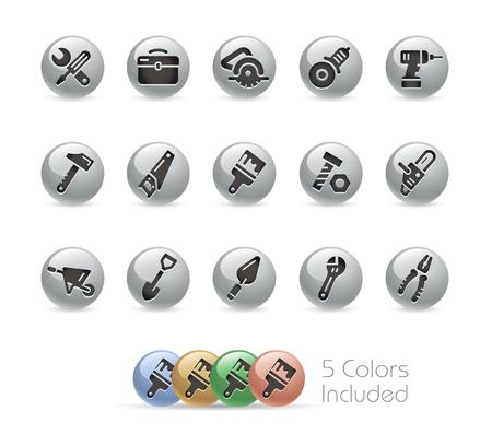 Tools Icons -- Metal Round Series Stok Fotoğraf - 48083417