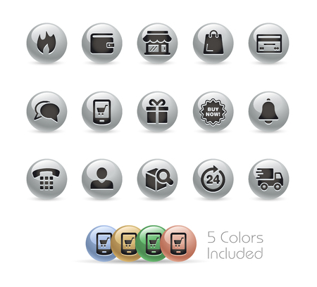 eshop: E-Shop Icons -- Metal Round Series