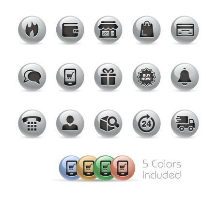 E-Shop Icons -- Metal Round Series