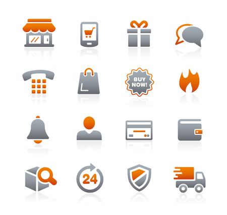 secure payment: E-Shopping Icons - Graphite Series