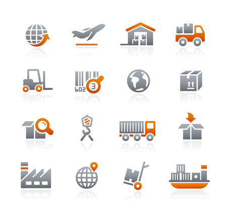 cart icon: Industry and Logistics - Graphite Series