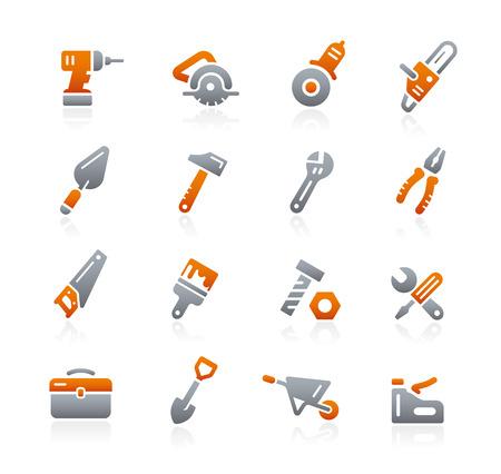 grafito: Herramientas iconos - Serie del grafito Vectores