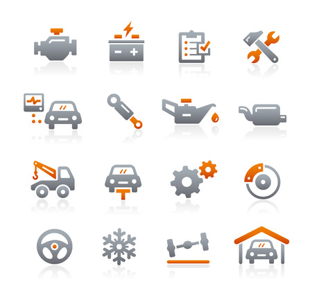 lubrication: Vector Car Service Icons - Graphite Series
