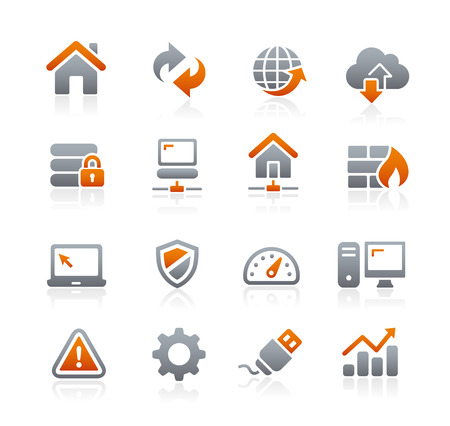 grafito: Iconos Web Developer - Serie del grafito