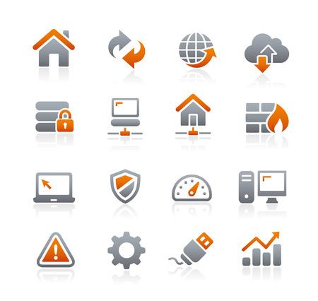 Iconos Web Developer - Serie del grafito