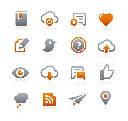 grafito: Iconos del Web y Móviles - Serie del grafito Vectores