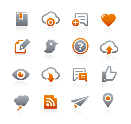 communications: Web and Mobile Icons  - Graphite Series Illustration