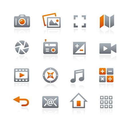 grafito: Iconos de Web y M�viles - Serie del grafito Vectores