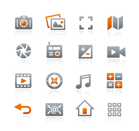 Web and Mobile icons  - Graphite Series